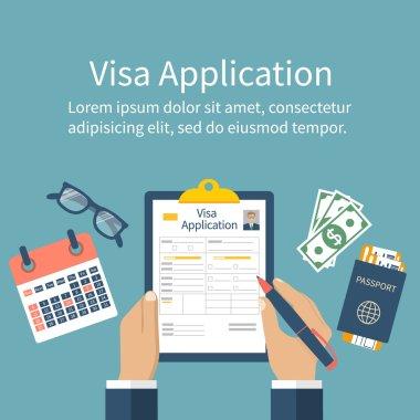 Application visa vector