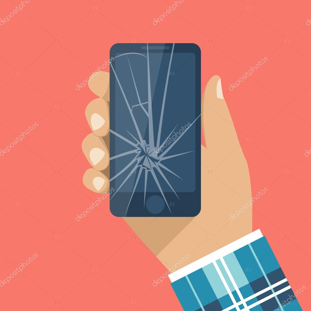cracked screen vector