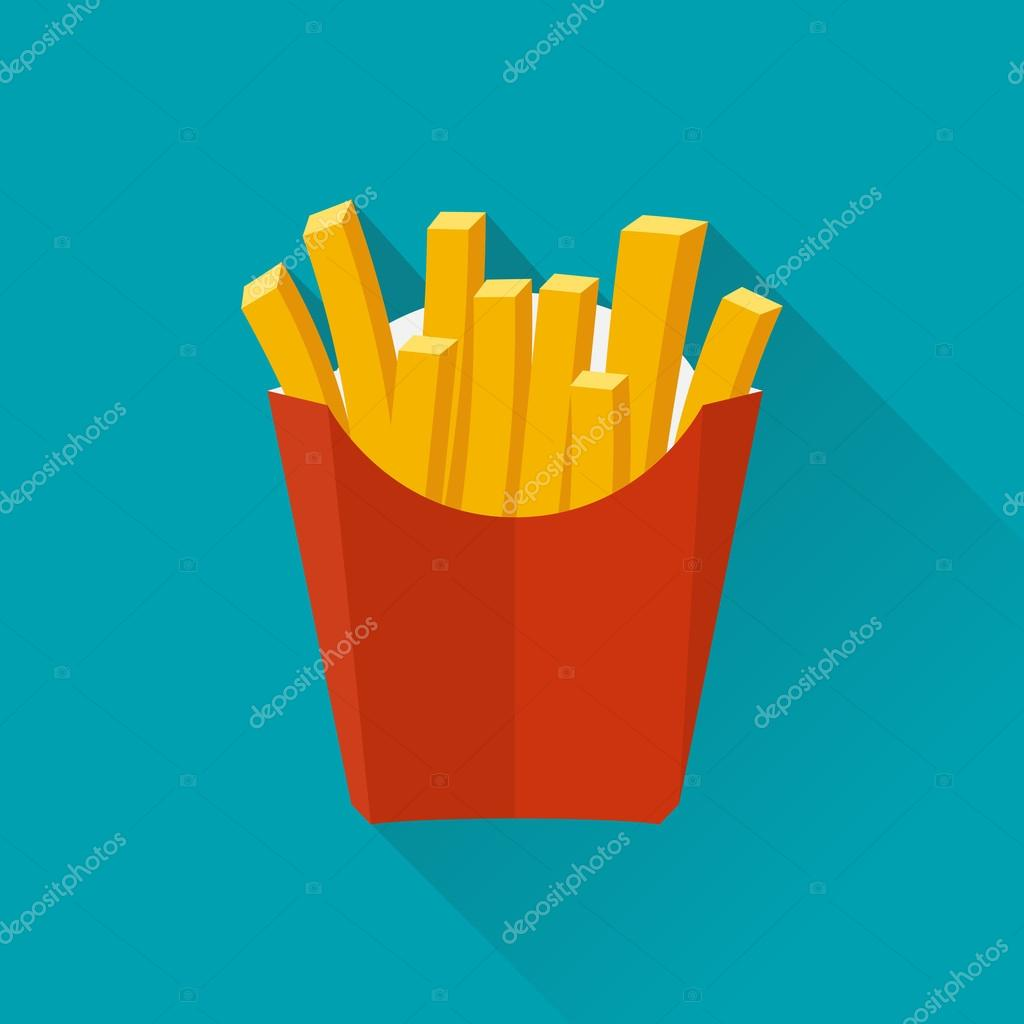 French fries. Vecto