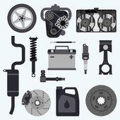 Fotografie Set auto parts.