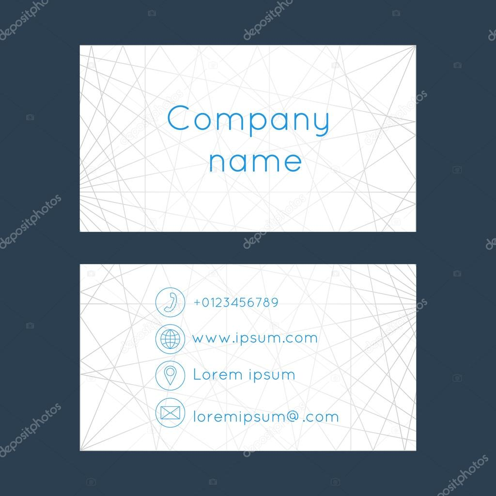 Business card abstract background of lines vetor de stock business card with abstract background of lines business cards set space for company name address phone email visit card blank template reheart Image collections