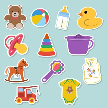 Baby icons stickers