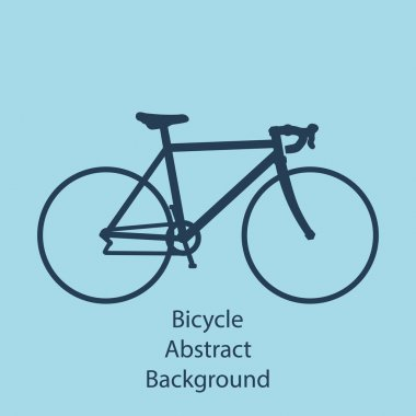 Bike background vector