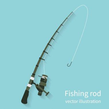 Fishing rod, vector
