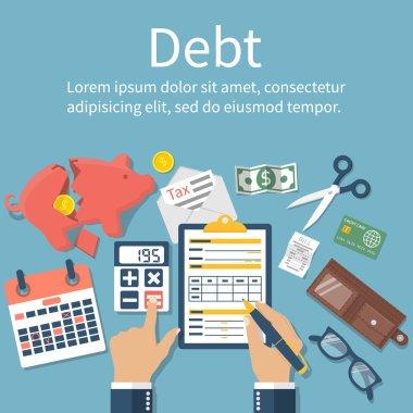 Debt concept vector