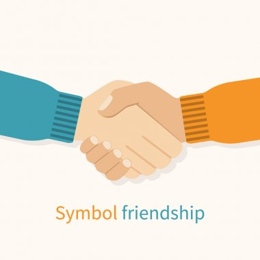 Handshake friends vector