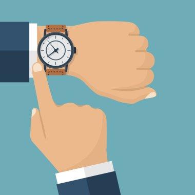 Wristwatch hand vector