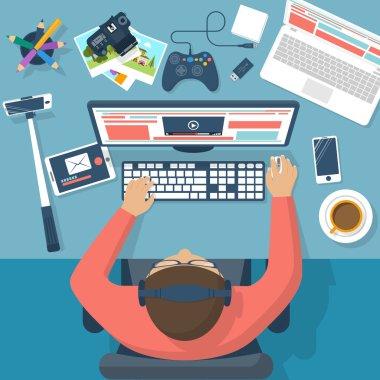 Blogger concept  vector