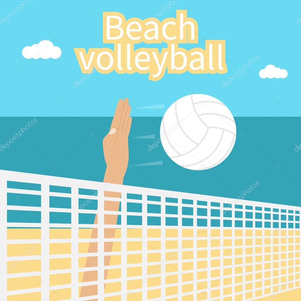 Voleibol de playa, vector — Vector de stock © threecvet.gmail.com ...