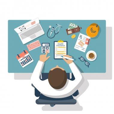 health insurance vector