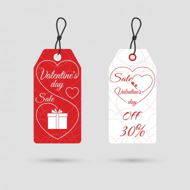 Valentine's day sale tag