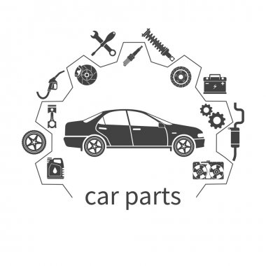 Car parts. auto spare parts for repairs