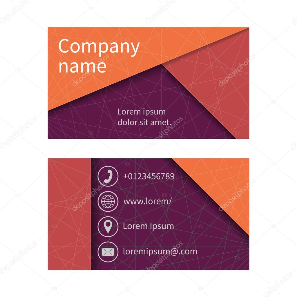 Business card with abstract background of lines vetor de stock business cards set space for company name address phone email visit card blank template business card design vector illustration reheart Image collections