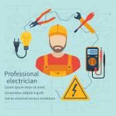 Icona di elettricista professionista