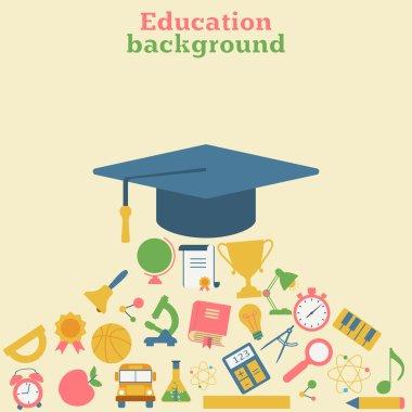 Graduation cap, icons of education