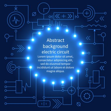 Abstract technology circuit board
