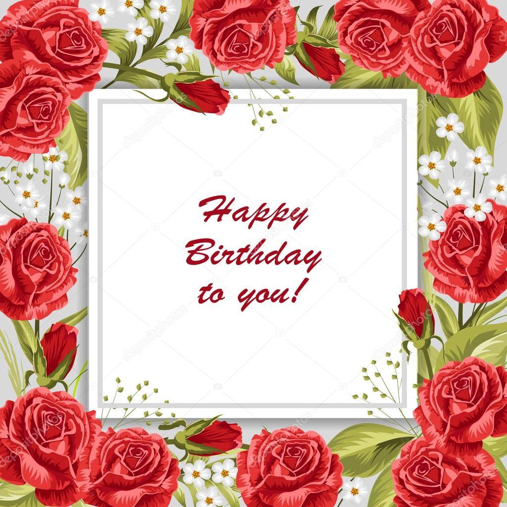 Happy Birthday Greeting Card Stock Vector Deboprevail