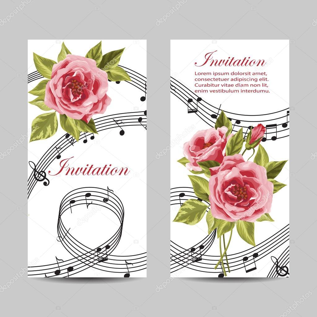 Set of wedding invitation cards design. — Stock Vector © debopre.v ...