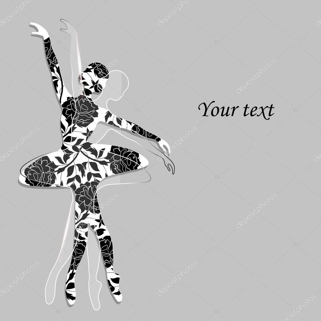 Patrón floral en forma de una bailarina — Archivo Imágenes ...