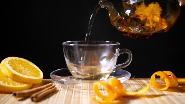 Lití, kvetoucí čaj se skořicí a Orange 4k