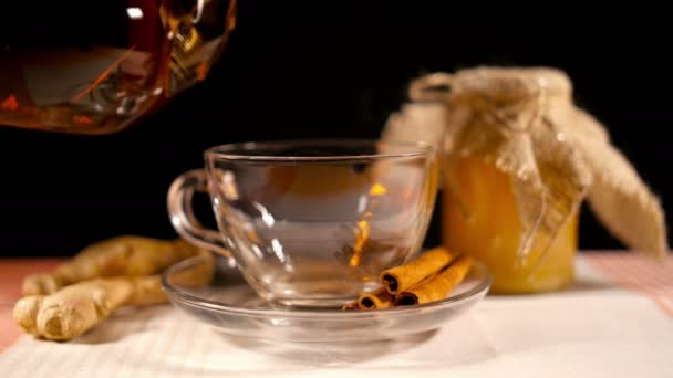 Pouring Tea with Honey, Ginger and Cinnamon