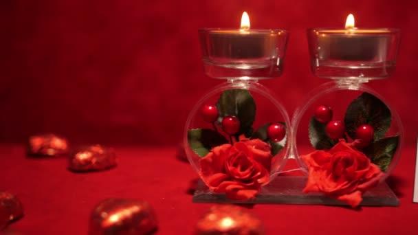 Valentinky den svíčky a bonbony 4k