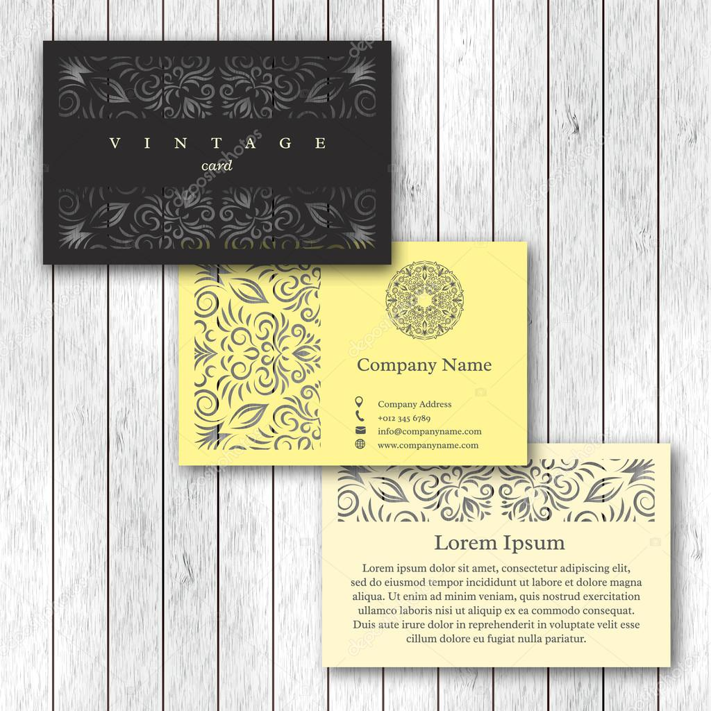 Ensemble De Cartes Visite Ornementales Avec Mandala Fleur Modle Carte Lments