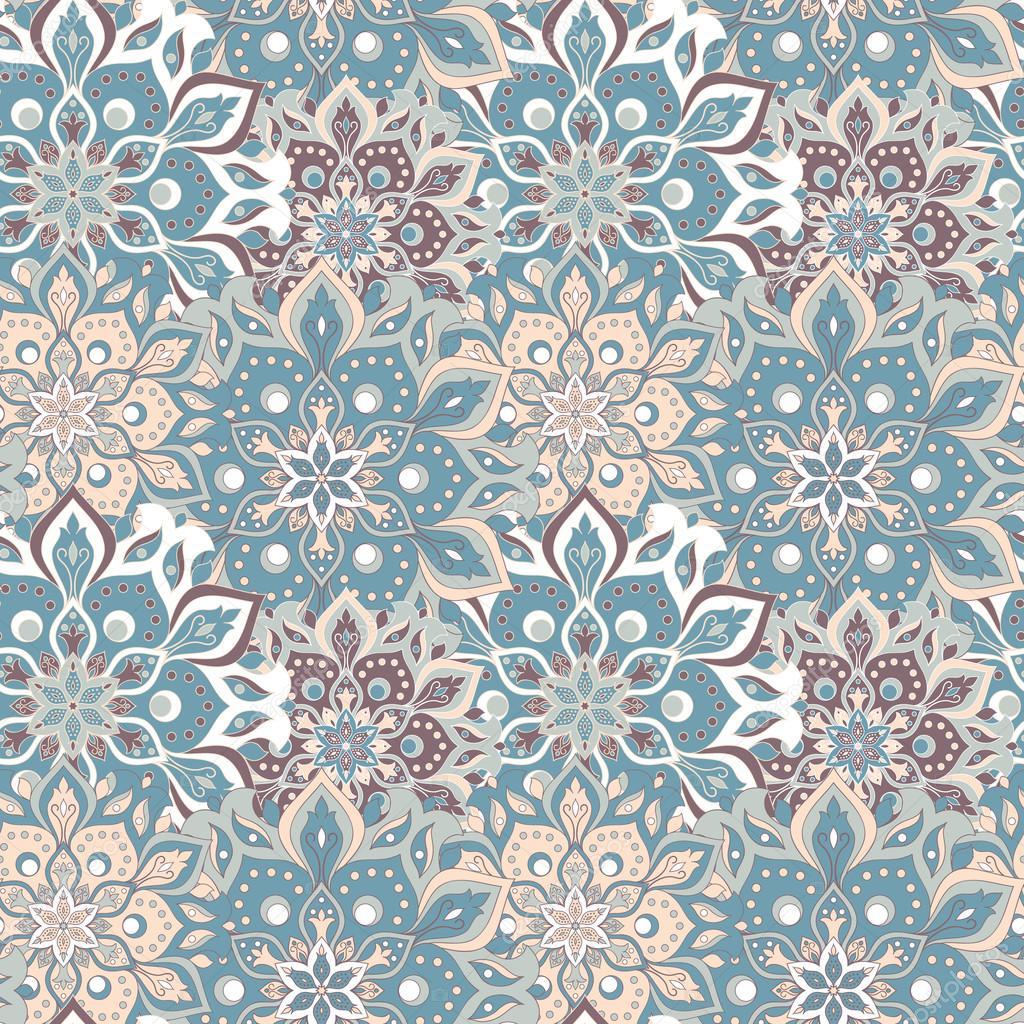 nahtlose hand gezeichnete mandala muster vintage elemente im orientalischen stil textur fr tapeten hintergrnde und seitenfllung - Tapete Orientalisches Muster