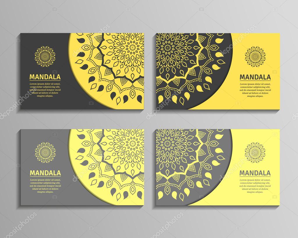 Jeux De Cartes Visite Mandala Illustration Stock