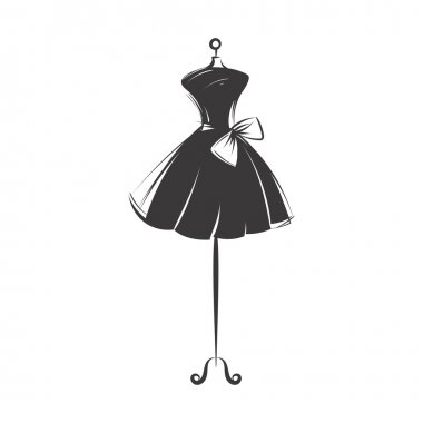 dummy dress hand drawing illustration vector