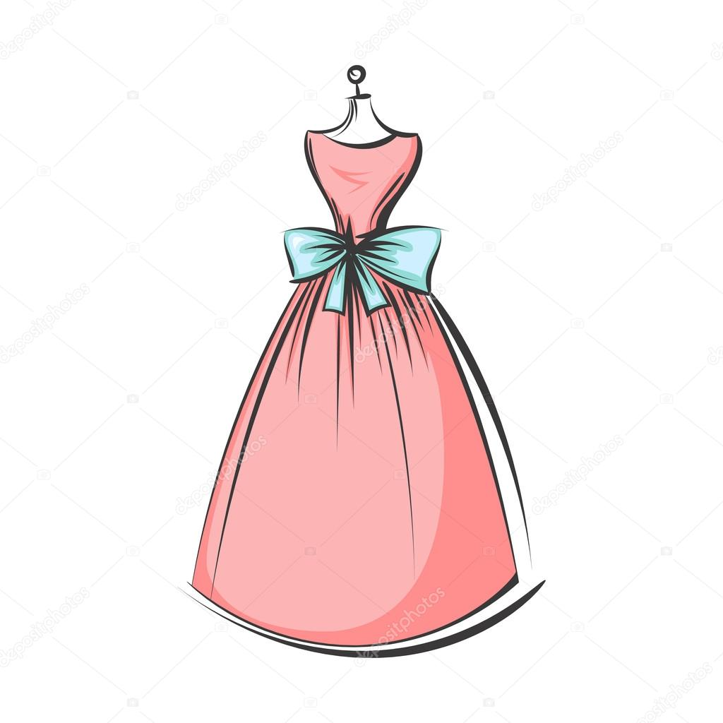 Dibujos Vestidos Mano De Maniquí Vestido Dibujo Vector