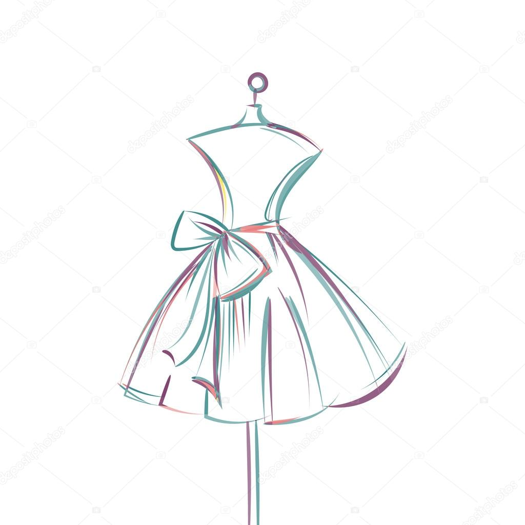 Imágenes Vestidos Para Dibujar A Lapiz Mano De Maniquí