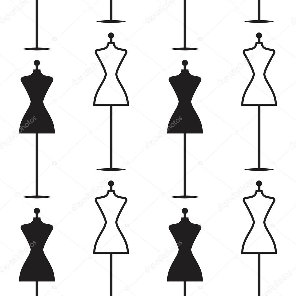 venta de vestido de maniquí dibujo patrón sin costuras a mano ...