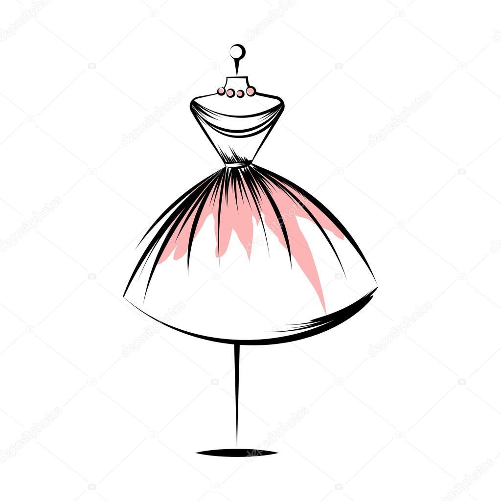 Mano de maniqu vestido dibujo vector ilustraci n vector de stock - Perchero maniqui ...