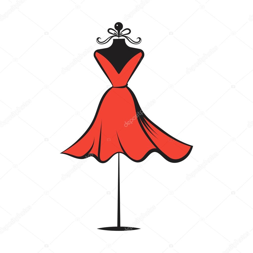 mano de maniquí vestido dibujo vector ilustración — Vector ...