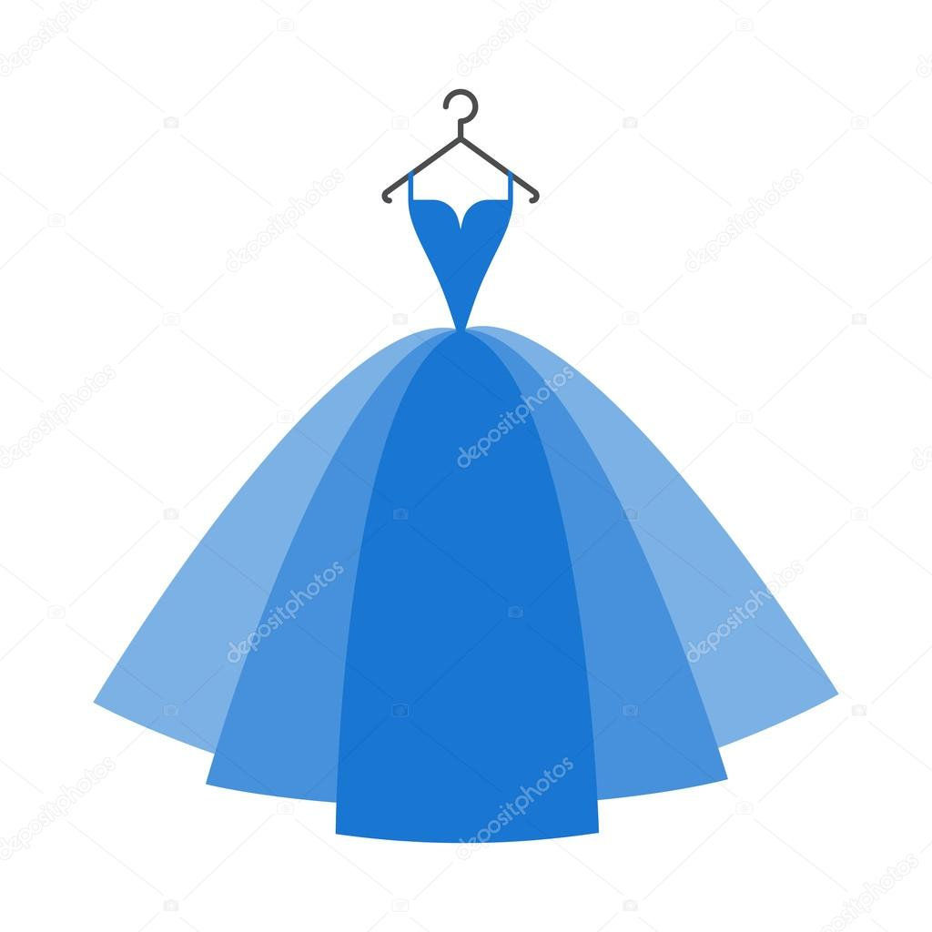 Ball gown blue