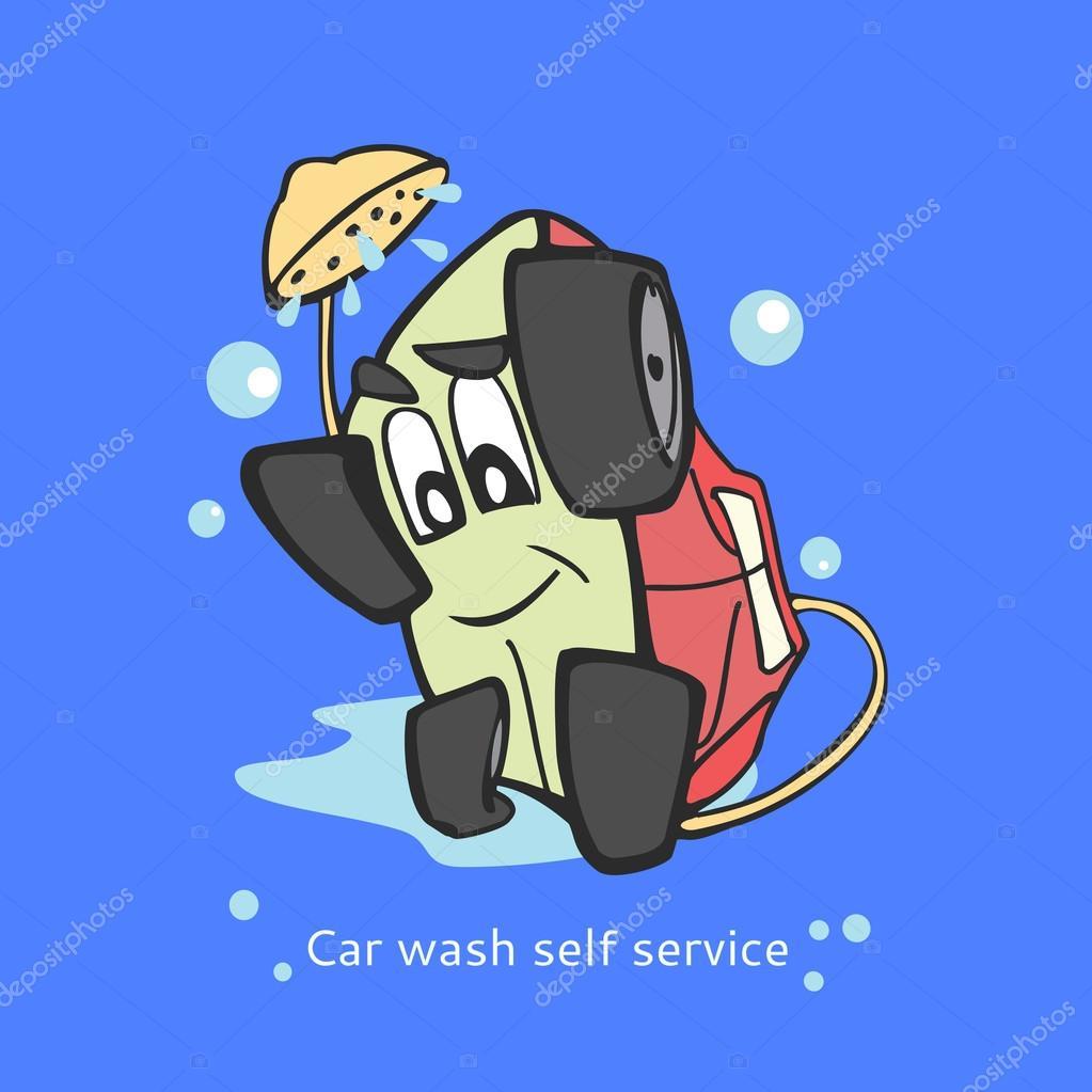 lavagem de carro de modelo de logotipo de self service auto lavagem limpeza a seco e lavagem. Black Bedroom Furniture Sets. Home Design Ideas