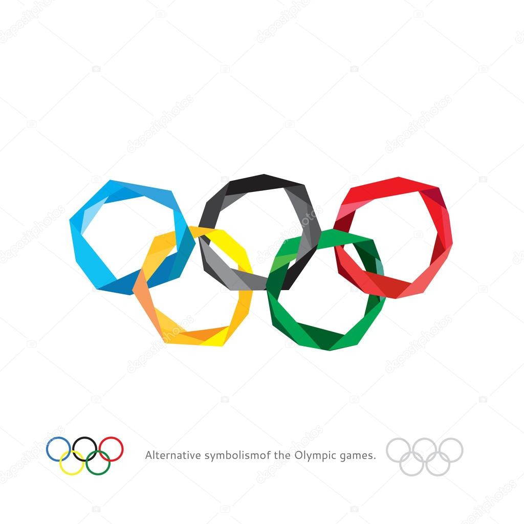 Olympic stock vectors royalty free olympic illustrations the olympic rings the olympic rings alternative symbolism of the olympic games polygonal buycottarizona