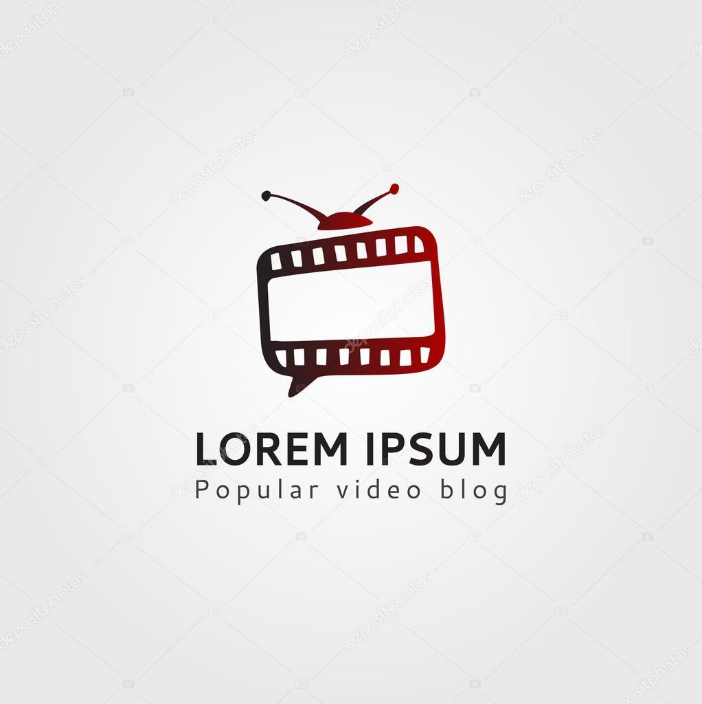 Video Blog-Kanal-Logo-Vorlage. TV-Blog-Logo. Logo-Vorlage-blogger ...