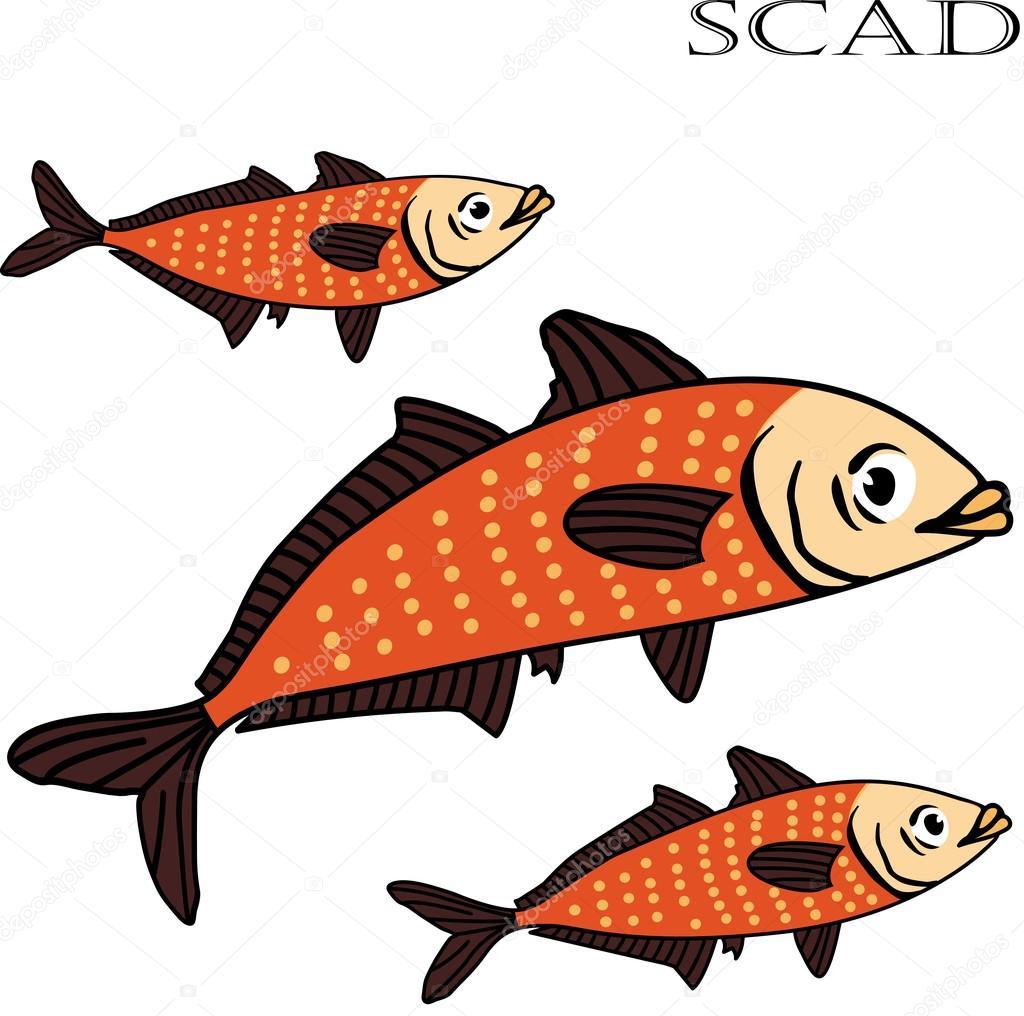Ilustración de vector de color de dibujos animados de pescado de ...