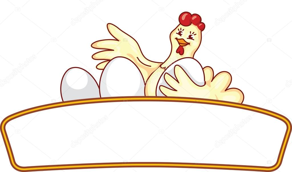 陽気な漫画地鶏卵ロゴ ベクトル テンプレート ストックベクター