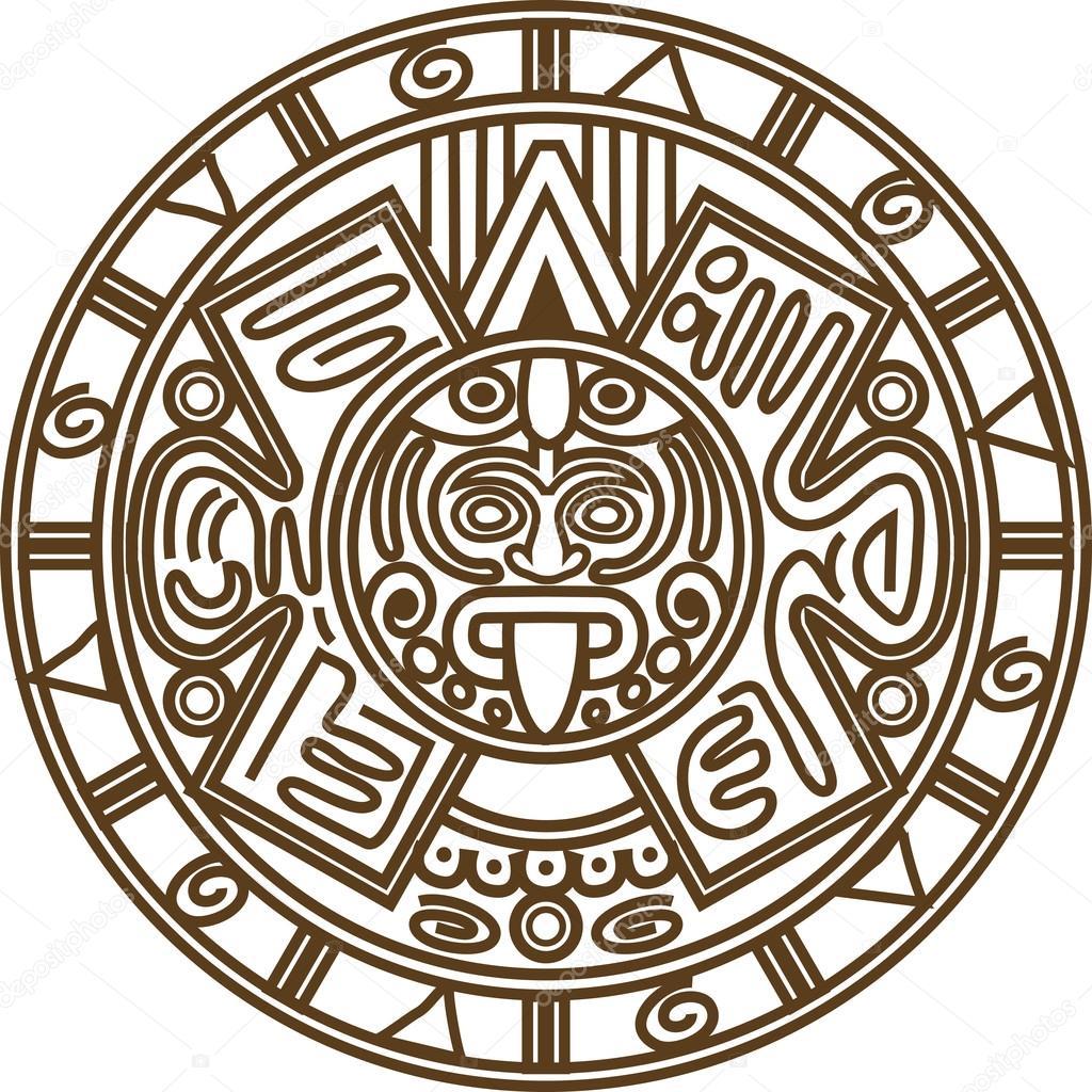 Mayan Calendar Drawing Easy : Vector de calendario maya — archivo imágenes vectoriales