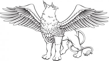 Griffin - a mythical creature with the head, claws and wings of