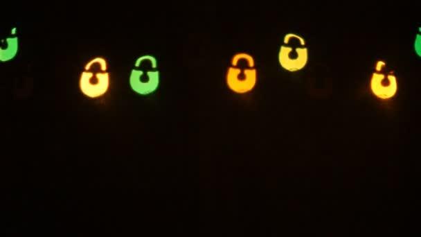 Megvilágítás zárak sokszínű Bokeh Top Line formában