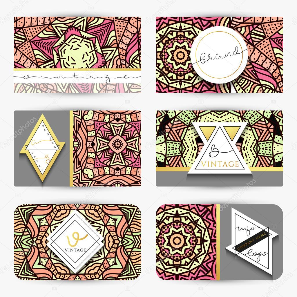 Mandala business card with ornament handmade in retro colors business card with ornament handmade in retro colors maroon mandala doodle template mandala print zentangle in red and green colors zentagle red reheart Choice Image