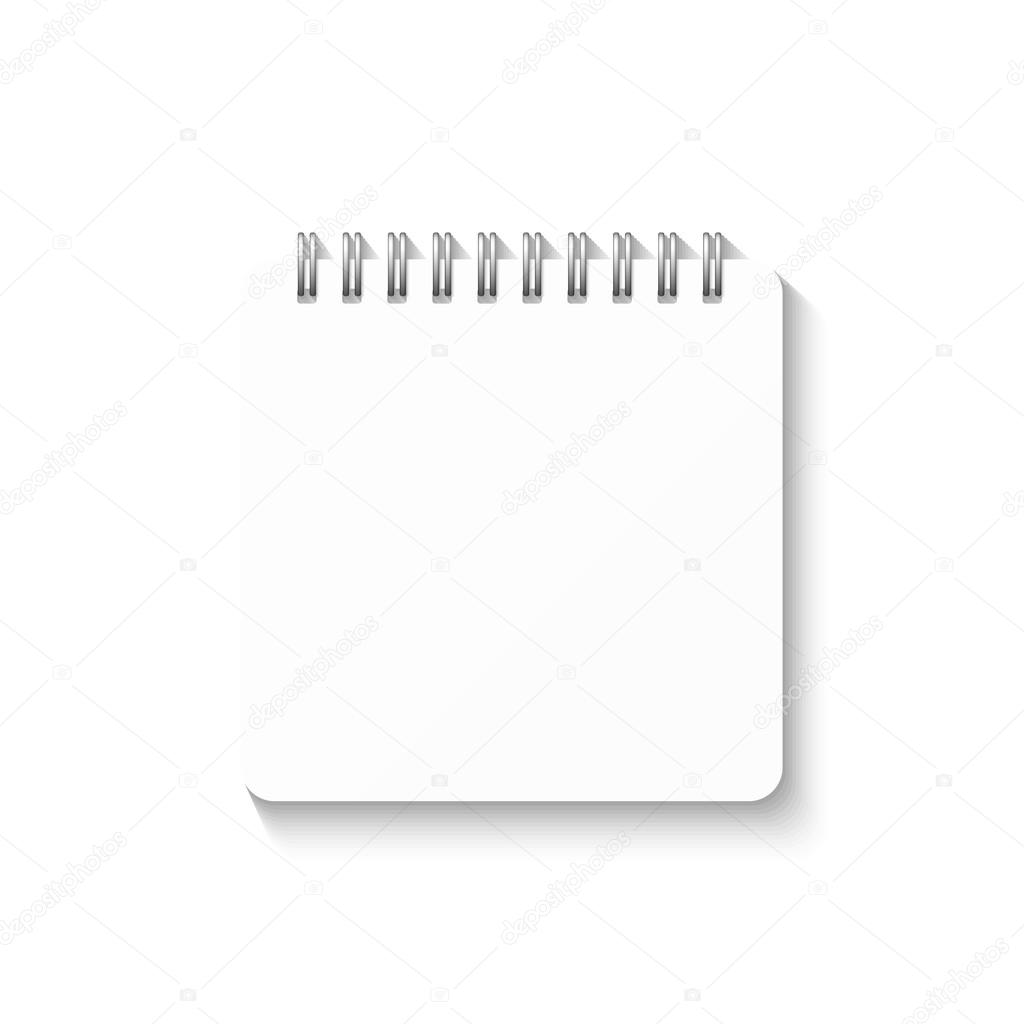 Notebook Template | Template With Spiral Notebook Isolated On White Background School