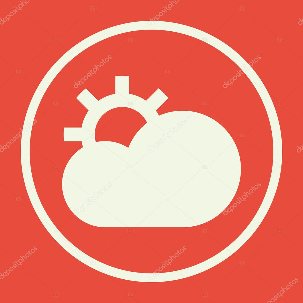 Cloud configure icon on red background white circle border white cloud configure icon on red background white circle border white outline voltagebd Choice Image