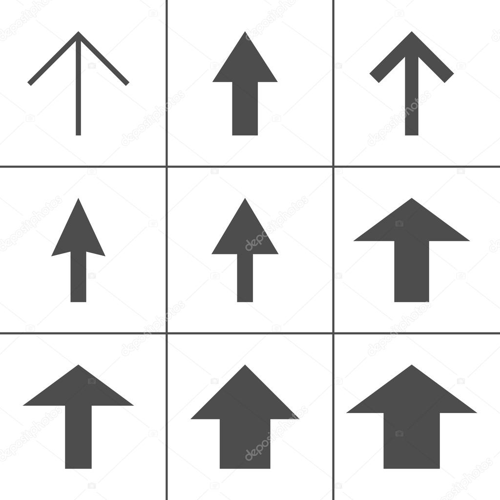 Arrow Icons Line Icons Set Of Arrows Direction Symbols Direction