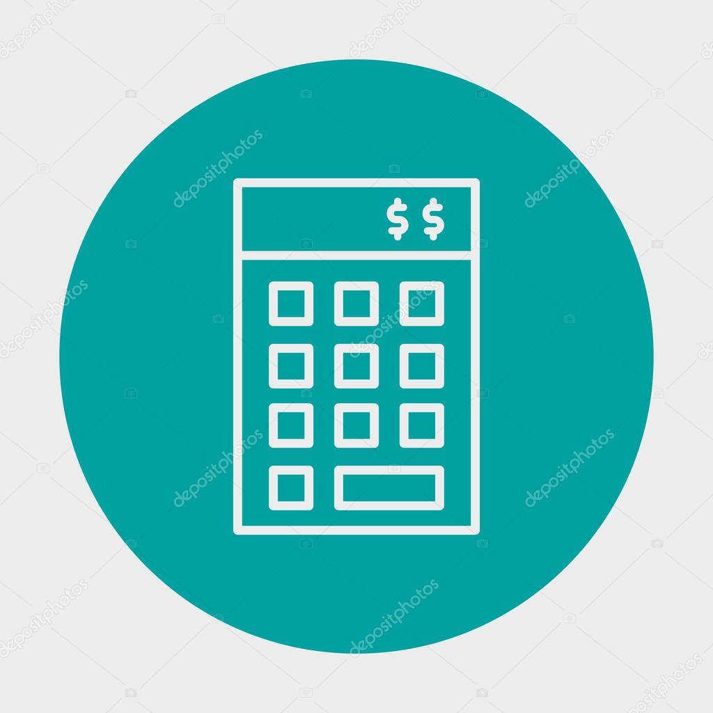 Project Management Financial Budget Icon Icon In Simple Isolated ...