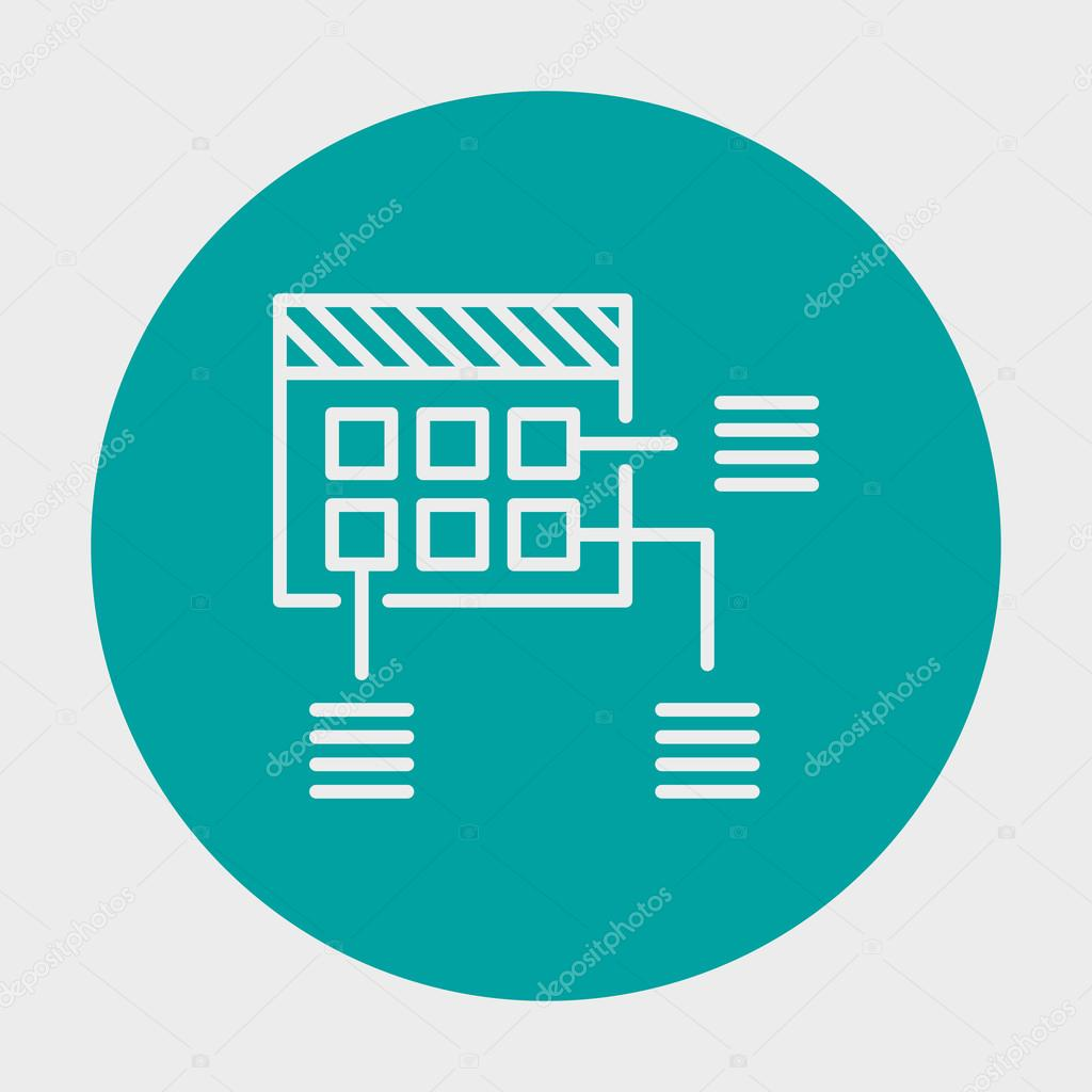 Project Management Planning Icon Icon In Simple Isolated Background ...